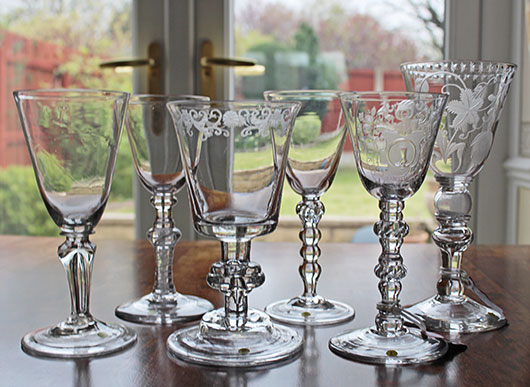 Usable Capacity Antique Drinking Glasses