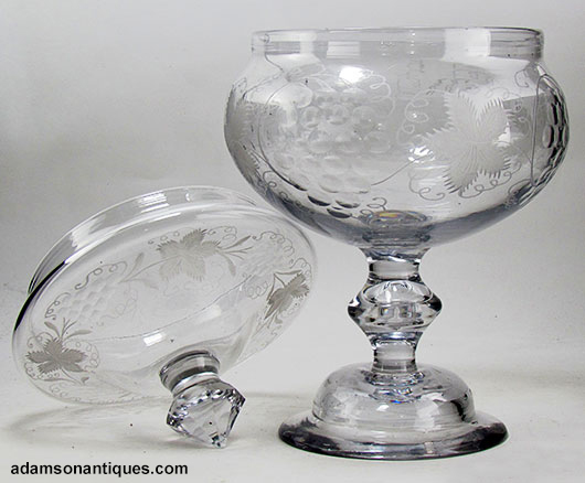 Very Large 18th Century Sweetmeat Glass